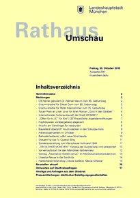 Rathaus Umschau 208 / 2015