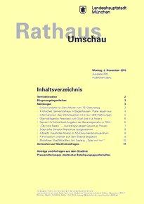 Rathaus Umschau 209 / 2015