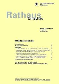 Rathaus Umschau 21 / 2015
