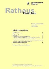 Rathaus Umschau 210 / 2015