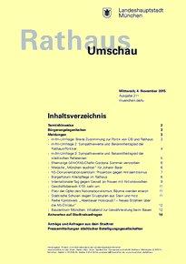 Rathaus Umschau 211 / 2015