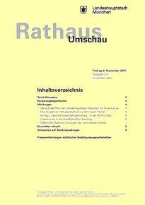 Rathaus Umschau 213 / 2015