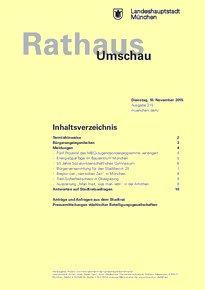 Rathaus Umschau 215 / 2015