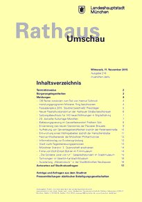 Rathaus Umschau 216 / 2015