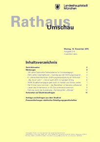 Rathaus Umschau 219 / 2015