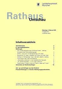 Rathaus Umschau 22 / 2015