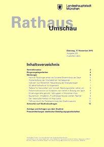 Rathaus Umschau 220 / 2015