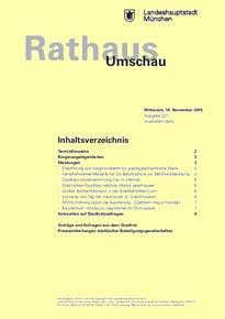 Rathaus Umschau 221 / 2015