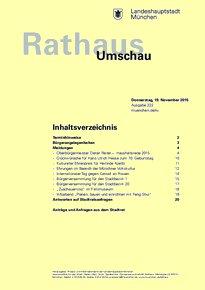 Rathaus Umschau 222 / 2015