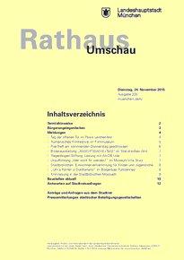 Rathaus Umschau 225 / 2015