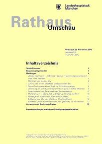 Rathaus Umschau 226 / 2015