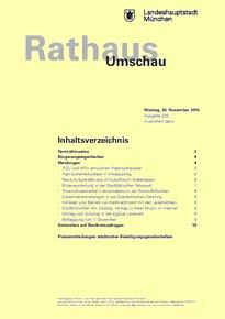 Rathaus Umschau 229 / 2015