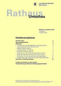 Rathaus Umschau 231 / 2015