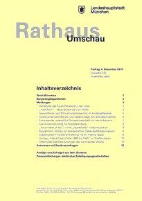 Rathaus Umschau 233 / 2015