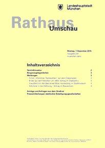 Rathaus Umschau 234 / 2015