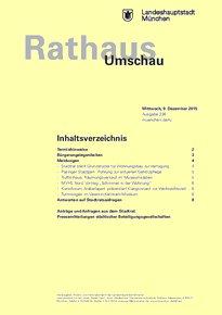 Rathaus Umschau 236 / 2015