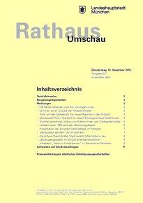 Rathaus Umschau 237 / 2015