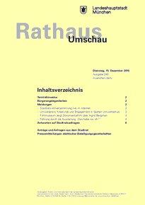 Rathaus Umschau 240 / 2015