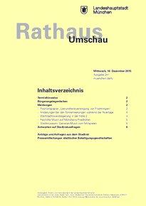 Rathaus Umschau 241 / 2015