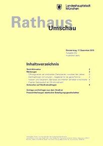 Rathaus Umschau 242 / 2015