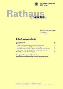 Rathaus Umschau 244 / 2015