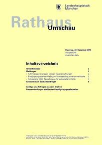 Rathaus Umschau 245 / 2015