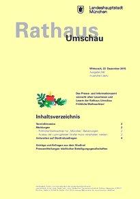Rathaus Umschau 246 / 2015