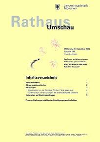Rathaus Umschau 249 / 2015