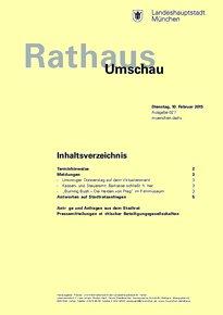 Rathaus Umschau 27 / 2015