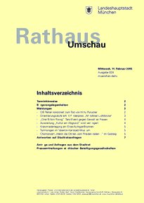 Rathaus Umschau 28 / 2015