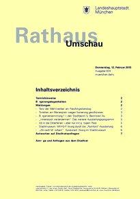 Rathaus Umschau 29 / 2015