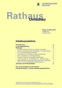 Rathaus Umschau 30 / 2015