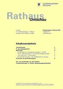 Rathaus Umschau 31 / 2015