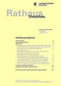 Rathaus Umschau 34 / 2015