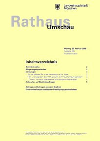Rathaus Umschau 35 / 2015