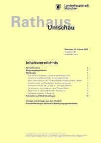 Rathaus Umschau 36 / 2015