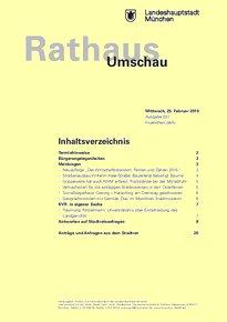 Rathaus Umschau 37 / 2015