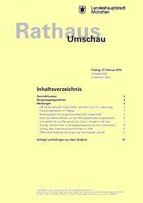 Rathaus Umschau 39 / 2015