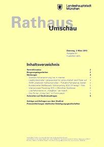 Rathaus Umschau 41 / 2015