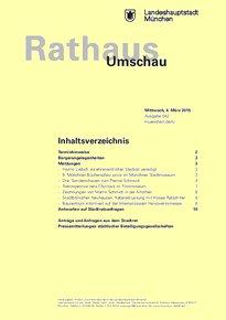Rathaus Umschau 42 / 2015