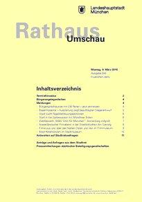 Rathaus Umschau 45 / 2015
