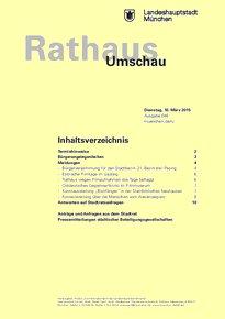 Rathaus Umschau 46 / 2015