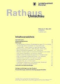Rathaus Umschau 47 / 2015