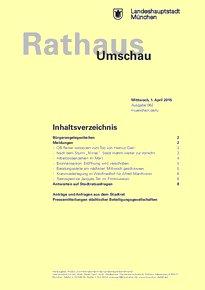 Rathaus Umschau 62 / 2015