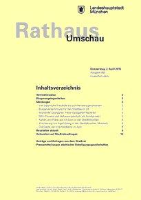 Rathaus Umschau 63 / 2015
