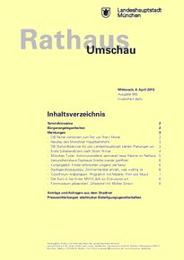Rathaus Umschau 65 / 2015