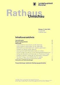 Rathaus Umschau 68 / 2015