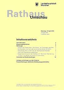 Rathaus Umschau 69 / 2015