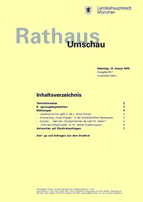 Rathaus Umschau 7 / 2015