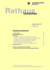 Rathaus Umschau 72 / 2015
